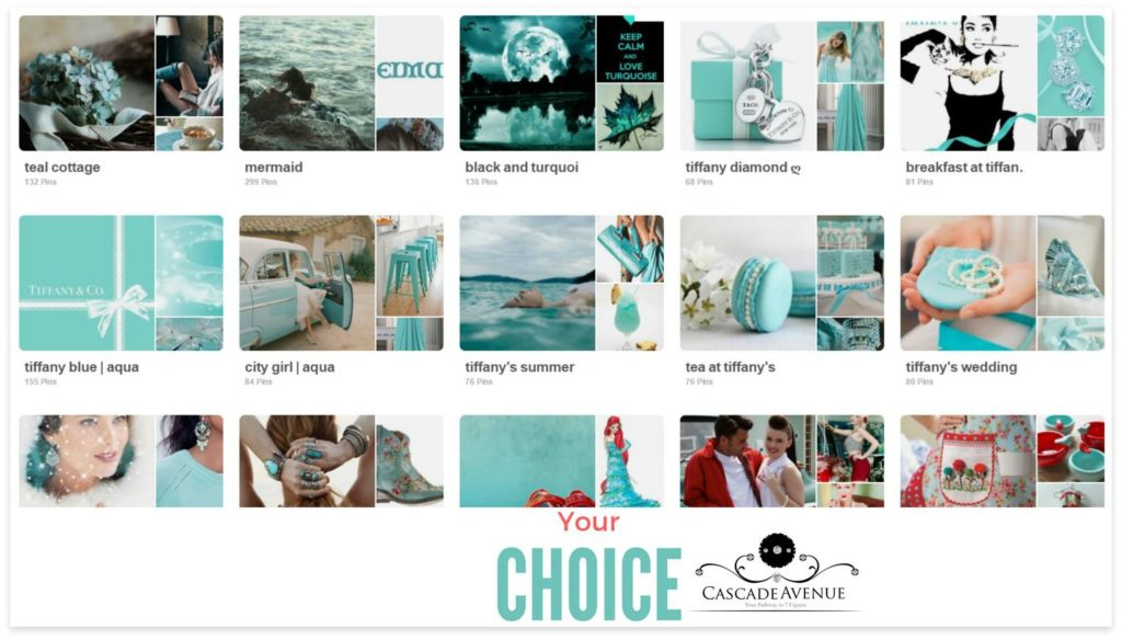Tiffany blue theme-Pinterest board covers