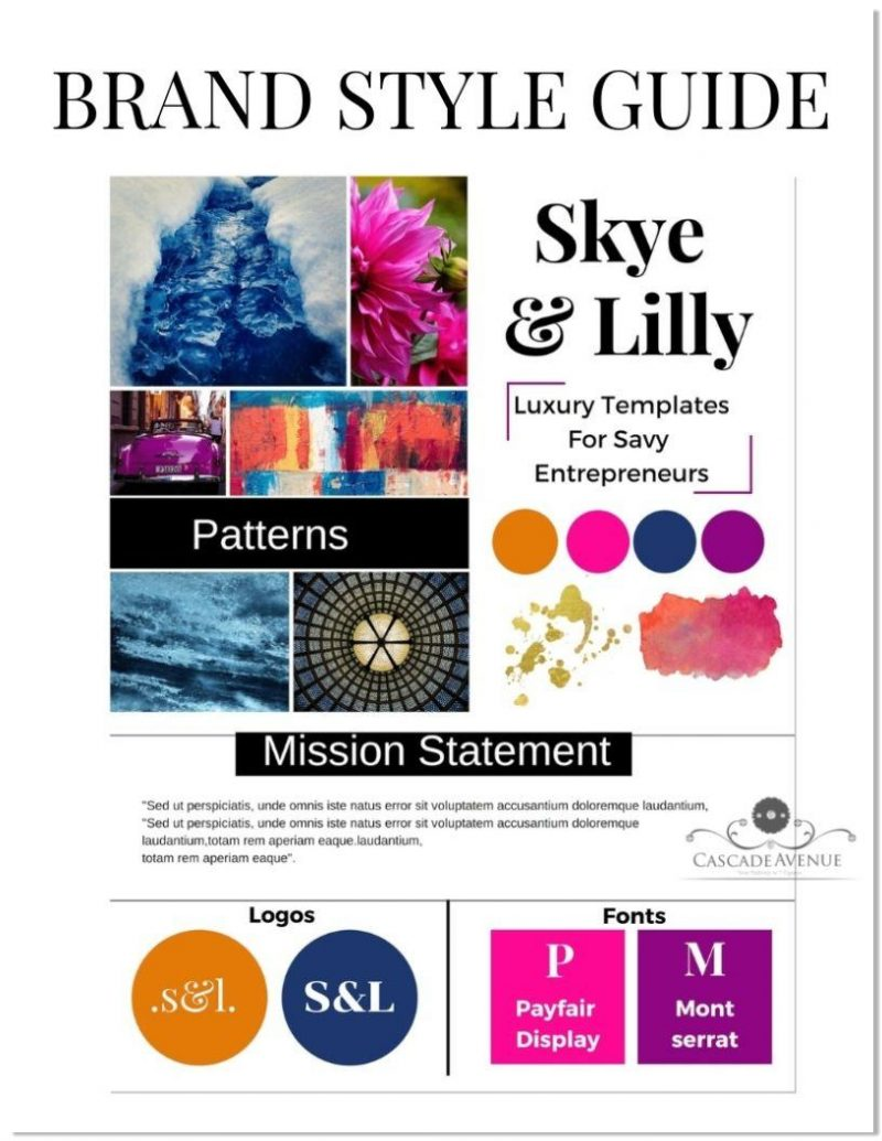 Canva Templates BRAND STYLE GUIDE