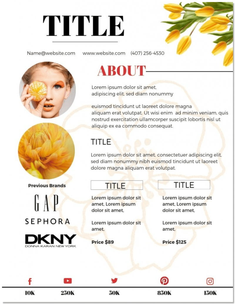 Canva Media Kit Template Lemon-Lilly-MaggieLamarre