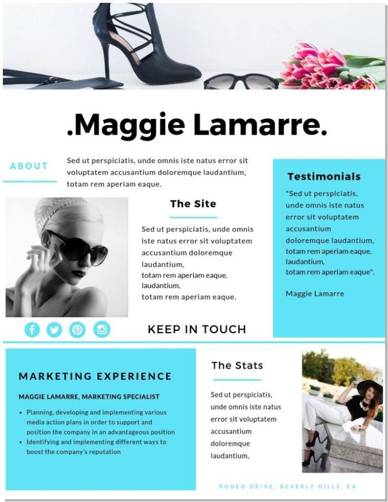 Canva Templat Media Kit Maggie Lamarre