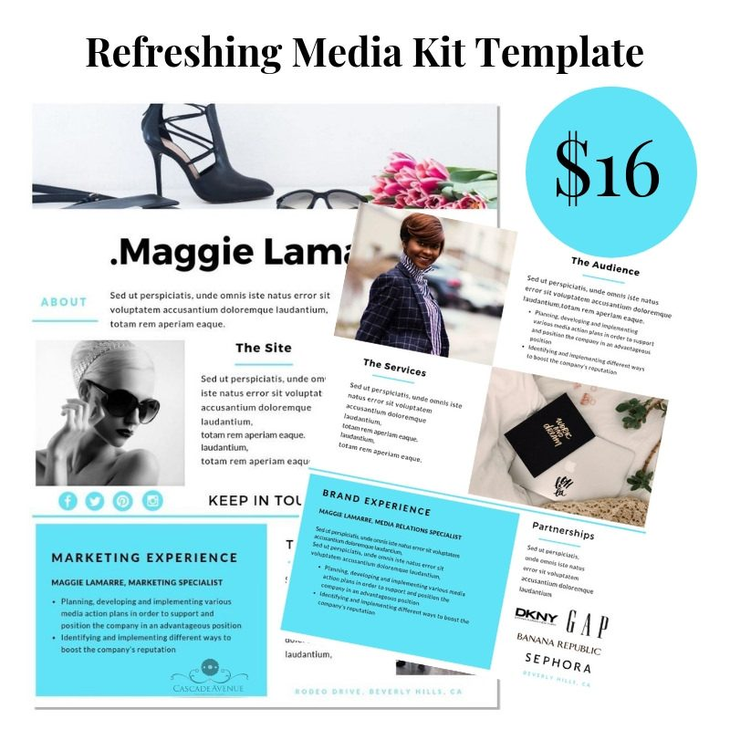 Refreshing Media Kit Template