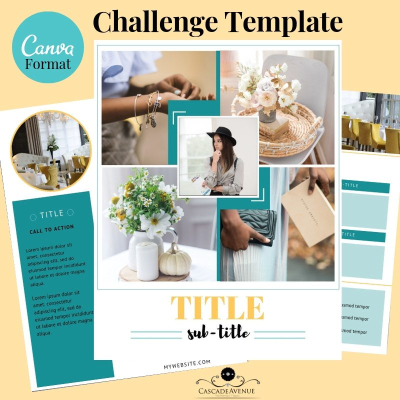 Canva Template-how to create a 5 day challenge