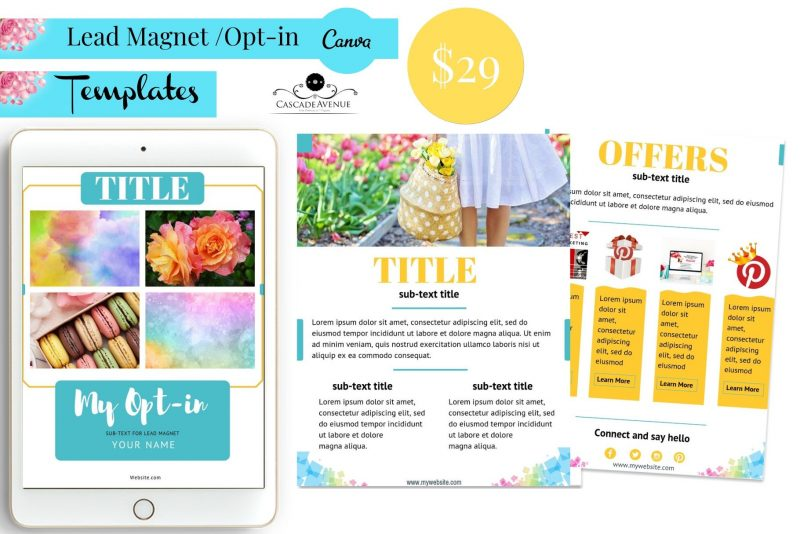 Lead Magnet Canva Template